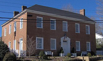 Charlotte, Tennessee - The Voorhies-James House in Charlotte, built in 1806