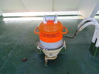 Voyage data recorder - Image: Voyage data recorder on MV Barfleur