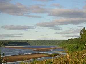 Komi Republic - The Vym River, Komi Republic, Russia