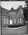 WEST SIDE WITH ENTRANCE - Plains Methodist Church, Highway 280 across from Thomas Street, Plains, Sumter County, GA HABS GA,131-PLAIN,16-1.tif