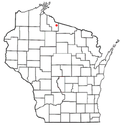 Location of Mercer, Wisconsin