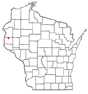 Stanton, St. Croix County, Wisconsin - Image: WI Map doton Stanton b