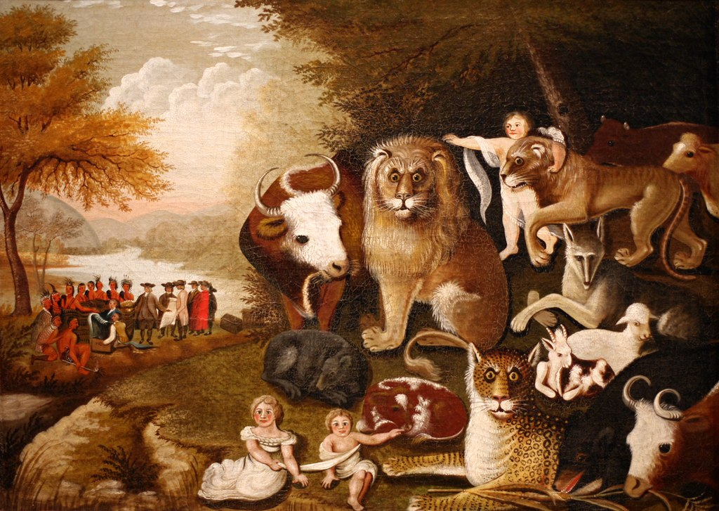 """The Peaceable Kingdom"" by Edward Hicks – Joy of Museums"