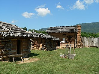 Wilderness Road State Park - Inside the reconstructed Martin's Station fort.