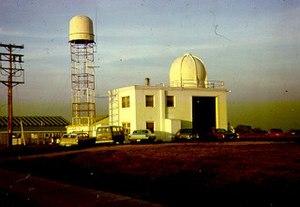 WSR-1 radar and radiosonde dome North Omaha Airport.jpg