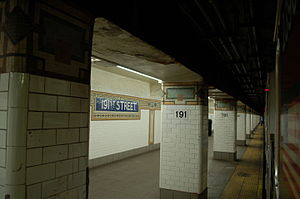 191st Street (IRT Broadway–Seventh Avenue Line) - Image: WTM3 The Fixers F 30