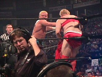 Crash Holly - Holly attacking Pat Patterson during Patterson's Evening Gown match with Gerald Brisco at the 2000 King of the Ring pay-per-view.