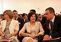 W uroczystości uczestniczyła Małżonka Prezydenta. Tu obok ministra Pawła Wypycha.jpg