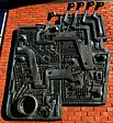 Wall sculpture, Grove Rd, Sutton, Surrey, Greater London.jpg