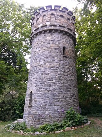 Wallingford, Pennsylvania - Tower on the grounds of Wallingford's Community Arts Center.
