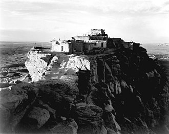 Hopi Reservation - Walpi and First Mesa in 1941 (photo by Ansel Adams)