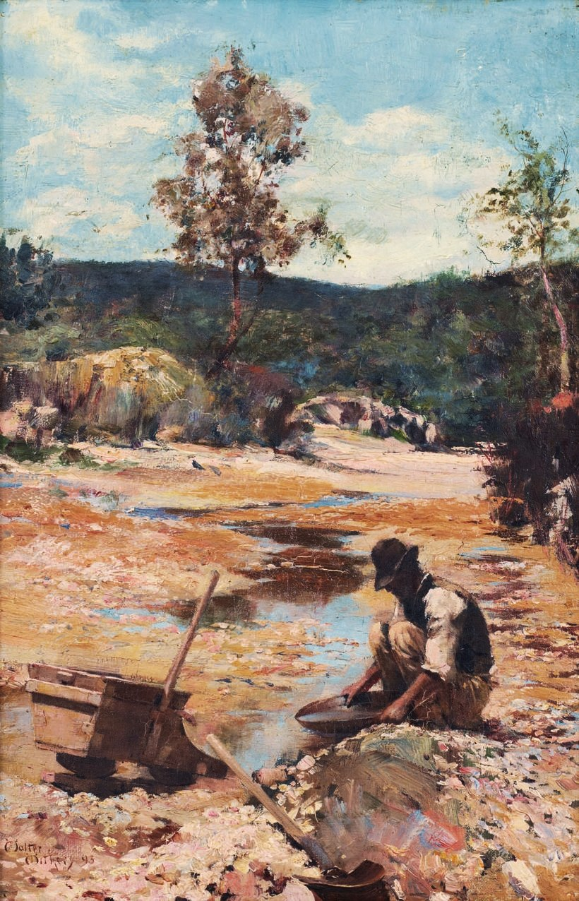 Walter Withers Panning for Gold 1893