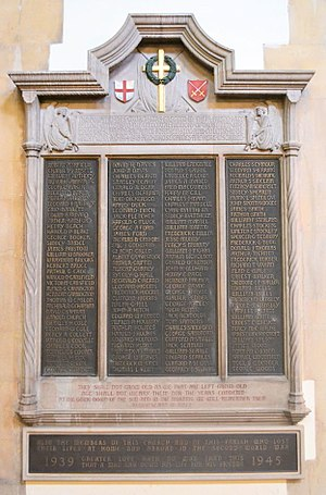Christ Church, Southgate - War Memorial by Charles Marriott Oldrid Scott