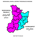 Warangal (rural) District Revenue divisions.png