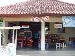 Balinese cuisine - A warung in Bali.