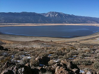 Washoe Lake - Washoe Lake, with Slide Mt. and the Carson Range in the background.