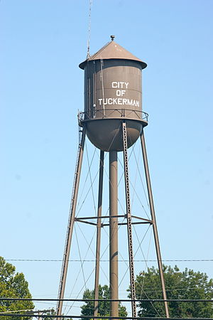 Tuckerman, Arkansas - The Tuckerman Water Tower is listed on the National Register of Historic Places