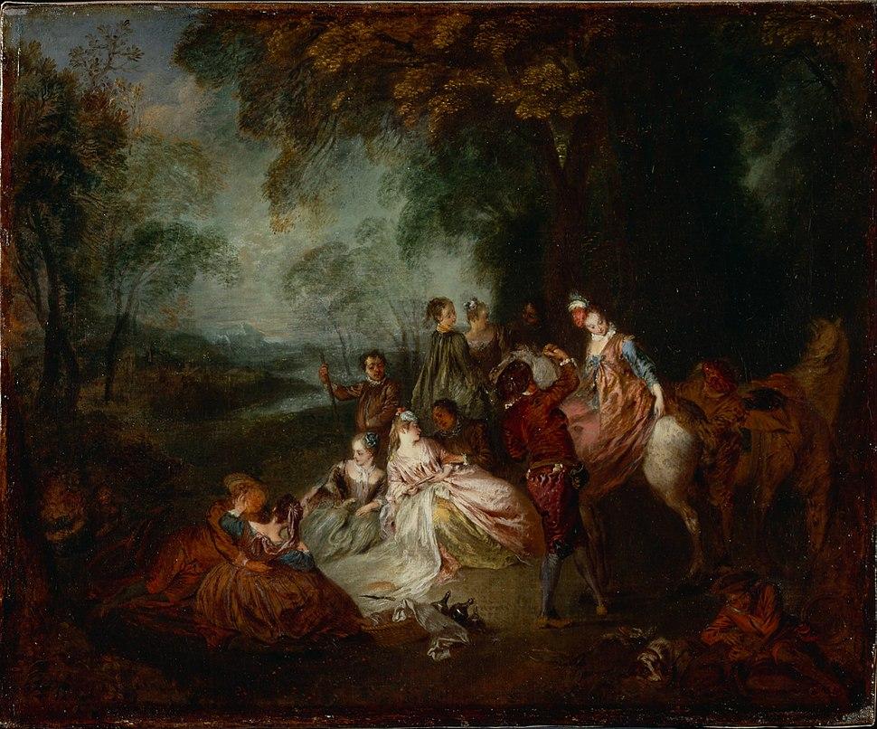 Watteau, Jean-Antoine - Fete Champetre - Google Art Project