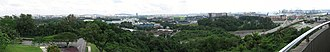 West Region, Singapore - Panoramic view of West Region, Singapore, from the look-out tower on Jurong Hill. Jurong Industrial Estate lies in the foreground.