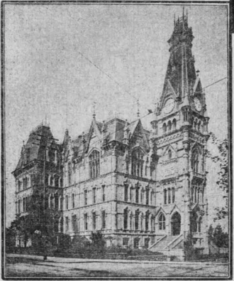 Lincoln High School (Portland, Oregon) - The 1885 high school building which, in 1909, became the first to take the name Lincoln High School