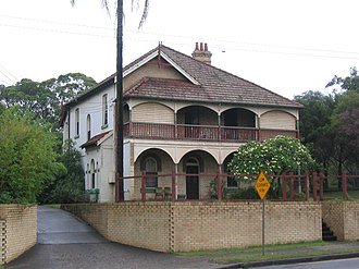 West Ryde, New South Wales - Pumping station manager's home, Victoria Road