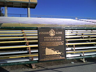 Western States Endurance Run - The finish line to the Western States 100 at Placer High School