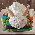White bunny birthday cake in India.jpg