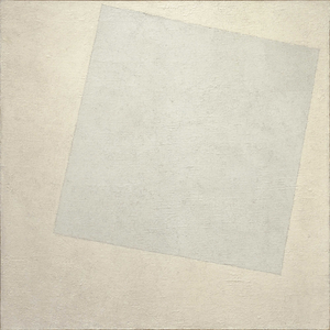 Monochrome painting - Kazimir Malevich, Suprematist Composition: White On White, 1918, Museum of Modern Art New York City