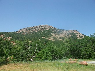 Guipago - Mount Scott area, in the Wichita Mountains, where Guipago was buried in a secret place