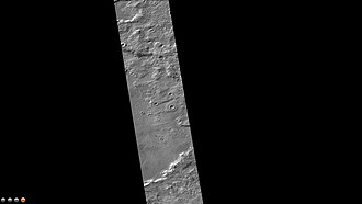 Phaethontis quadrangle - East side of Hipparchus Crater, as seen by CTX camera (on Mars Reconnaissance Orbiter).