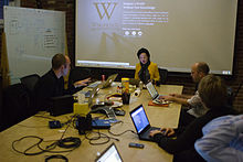 Wikimedia Foundation SOPA War Room Meeting 1-17-2012-1-10.jpg
