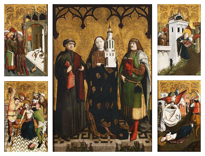 File:Wilhelm Kalteysen - Saint Barbara Altarpiece - Google Art Project.jpg
