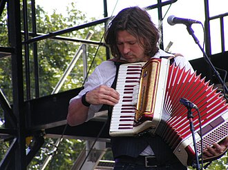 Will Kimbrough - Kimbrough playing accordion at ACL Festival (2008)