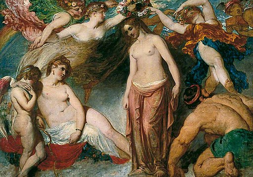 William Etty - Pandora Crowned by the Seasons, 1823-1824