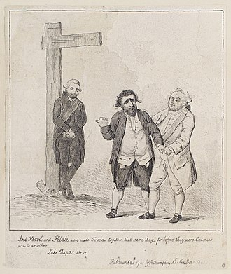 William Petty, 2nd Earl of Shelburne - Shelburne, Charles James Fox and Frederick North, 2nd Earl of Guilford by James Gillray (1783)
