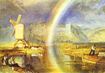 William Turner. Arundel Castle, with Rainbow. c. 1824. Watercolour on paper. British Museum.jpg