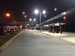 Williams Landing, Victoria - Williams Landing Bus Terminal at night