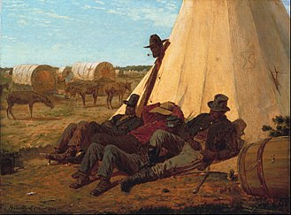 Sibley tent - In Front of Yorktown, 1862–1863 by Winslow Homer