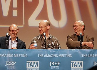 Joe Nickell - Joe Nickell (right) during TAM9 in 2011, with Richard Wiseman and Phil Plait