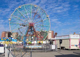 Wonder Wheel Ferris wheel in Coney Island, Brooklyn, New York