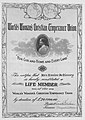 World's Women's Christian Temperance Union Certificate awarded to Louise McKinney (27131479155).jpg