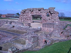 Cornovii (Midlands) - The ruins of the Roman city Viroconium at Wroxeter