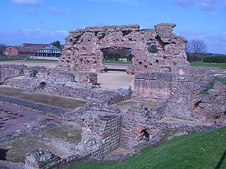 Cornovii (Midlands) - The ruins of the Roman city Viroconium at Wroxeter