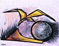 Yatrides - L'oiseau et l'absolu, 38x46 cm, 1950.JPG