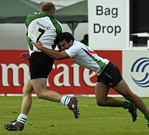 Rugby union in Asia - Action at the Dubai Sevens