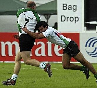 """Rugby union in Azerbaijan - Azerbaijani rugby player Zahid Sadmaliyev (""""Zaza"""")"""