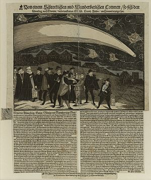 Popular print - Der Große Komet über Prag, 12. November 1577, Zentralbibliothek Zürich