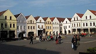 Žilina - Mariánske námestie with burgher houses