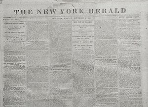 "New York Herald - ""The New York Herald,"" December 8, 1862"