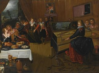 A Banquet Scene, an Allegory on Love and Lust